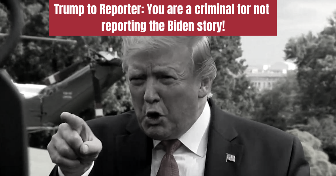 President Trump Calls Reporter a Criminal for Not Reporting the Truth