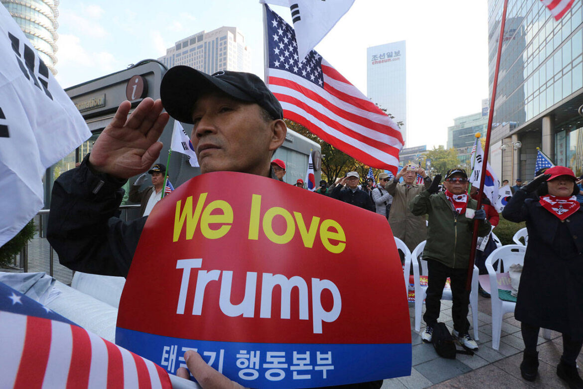 Thousands of Japanese Trump Supporters Protest Against Beijing Biden in Central Tokyo