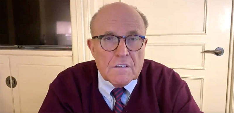 Rudy Giuliani reveals Dominion witness who saw 100k votes brought in for Biden